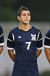 01 October 2013: UNCW's Mateo Cardona (COL). The Duke University Blue Devils hosted the University of North Carolina Wilmington Seahawks at Koskinen Stadium in Durham, NC in a 2013 NCAA Division I Men's Soccer match. UNCW won the game 2-1.