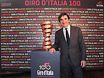 The first Giro d&rsquo;Italia started from Milan in 1909. This year the 100th edition, and for the 76th time in its history, the Giro will conclude under the shadow of Milan&rsquo;s Duomo Madonnina in Piazza Duomo, with the final Individual Time Trial on 28 May. Milan, Italy. 20th April 2017.<br /> Picture: LaPresse | Cyclefile<br /> <br /> <br /> All photos usage must carry mandatory copyright credit (&copy; Cyclefile | LaPresse)