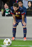 FUSSBALL   INTERNATIONAL   CHAMPIONS LEAGUE   2012/2013      FC Barcelona - Celtic FC Glasgow       23.10.2012 Lionel Messi (Barca) mit Ball