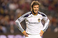 David Beckham of the LA Galaxy waits patiently for the cornerkick. The Colorado Rapids defeated the LA Galaxy 3-1 at Home Depot Center stadium in Carson, California on Saturday October 16, 2010.