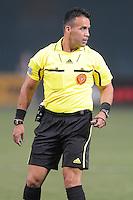 MLS main referee Hilario Grajeda. D.C. United defeated The Vancouver Whitecaps FC 4-0 at RFK Stadium, Saturday August 13 , 2011.