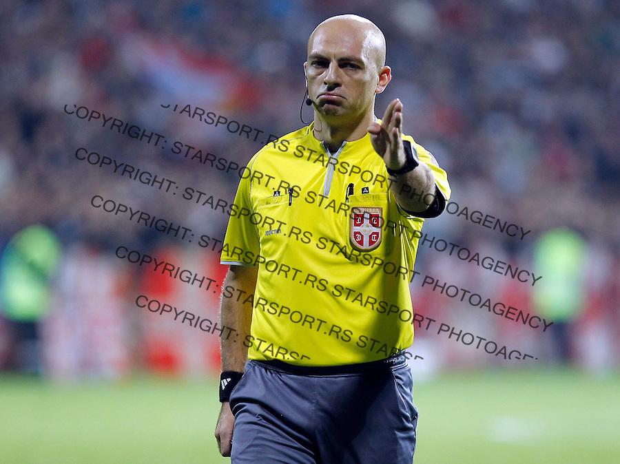 Fudbal Super liga season 2013-2014<br /> Cukaricki v Crvena Zvezda<br /> Referee sudija Novica Andjelovski<br /> Beograd, 06.10.2013.<br /> foto: Srdjan Stevanovic/Starsportphoto &copy;