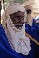 Bankilare, Niger - Tuareg Village Chief, Turban, Veil