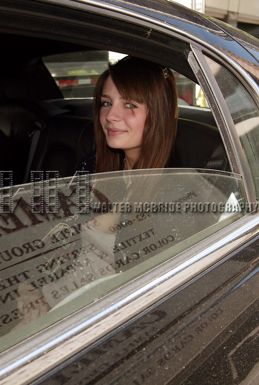 Mischa Barton   *** EXCLUSIVE ***.( In her car / Limo window ).Out and About in New York City while in town for the FOX Television Network UpfrontAnnouncements..May 20, 2004.© Walter McBride /