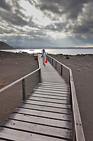 Boardwalk hike to the top of Bartolome Island, Galapagos Islands, Ecuador