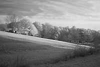 Firefly Farm hilly landscape in rural Kentucky.  Infrared (IR) photograph by fine art photographer Michael Kloth.