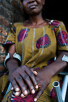 Claudine, a rape victim, at the ANAMAD Centre (Association Nationale de Mamans pour l'Aide aux Desherites ).