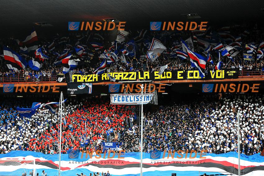 Tifosi Sampdoria Supporters <br /> Genova 02-05-2015 Stadio Ferraris, Football Calcio Serie A 2014/2015 Sampdoria - Juventus Foto Andrea Staccioli / Insidefoto