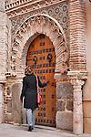 A door in Toledo, Spain. The architecture of Toledo, Spain shown here with a large Moorish style door