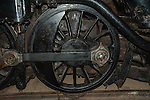 The wheel of Engine #5468 in the museum at Revelsoke, BC, Canada