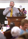 TORRINGTON CT. 26 April 2017-042617SV03-Joel Sekorski, director services for the elderly, thanks all the volunteers for attending a Recognition Breakfast at the Elks Club in Torrington Wednesday. The service for the Elderly department, Sullivan Senior Center and Nutrition program honored their Volunteers. <br /> Steven Valenti Republican-American