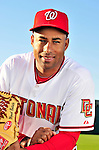 28 February 2010: Washington Nationals starting pitcher Miguel Batista poses for his Spring Training photo at Space Coast Stadium in Viera, Florida. Mandatory Credit: Ed Wolfstein Photo