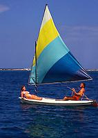 Couple on sailboat, Jamaica