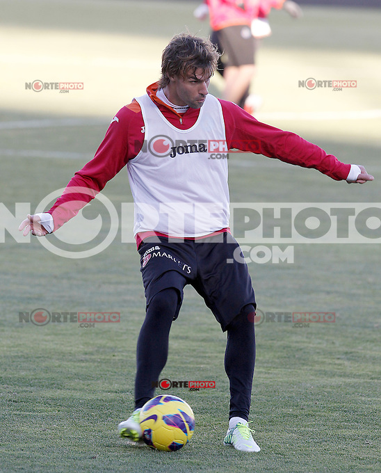 Getafe's Juan Valera during training session.December 05,2012.(ALTERPHOTOS/Acero) /NortePhoto