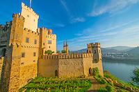 Stolzenfels Castle ,  Rhine River, Germany , Rhineland Region. 13th Century Castle Upper Middle Rhine Valley UNESCO World Heritage Site