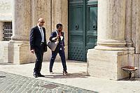 Roma 29 Aprile 2013..Il ministro dell'Integrazione Cecile Kyenge entra alla Camera dei Deputati dove si voto la fiducia al Governo Letta