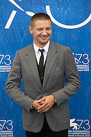 Jeremy Renner at the photocall for Arrival at the 2016 Venice Film Festival.<br /> September 1, 2016  Venice, Italy<br /> CAP/KA<br /> &copy;Kristina Afanasyeva/Capital Pictures /MediaPunch ***NORTH AND SOUTH AMERICAS ONLY***