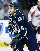 Josh Bemis (Plymouth - 6) - The Windsor Spitfires defeated the Plymouth Whalers 3-2 (OT) to sweep the Ontario Hockey League Western Conference Semi-Finals on Wednesday, April 7, 2010, at Compuware Arena in Plymouth, Michigan.