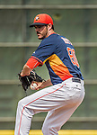 22 March 2015: Houston Astros pitcher James Hoyt on the mound during a Spring Training game against the Pittsburgh Pirates at Osceola County Stadium in Kissimmee, Florida. The Astros defeated the Pirates 14-2 in Grapefruit League play. Mandatory Credit: Ed Wolfstein Photo *** RAW (NEF) Image File Available ***