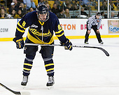 John Heffernan (Merrimack - 8) - The Merrimack College Warriors defeated the University of New Hampshire Wildcats 4-1 in their Hockey East Semi-Final on Friday, March 18, 2011, at TD Garden in Boston, Massachusetts.