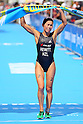 Andrea Hewitt (NZL), SEPTEMBER 19, 2011 - Triathlon : Andrea Hewitt of New Zealand celebrates after wining during the 2011 ITU World Championship Yokohama in Yokohama city, Kanagawa, Japan. (Photo by Yusuke Nakanishi/AFLO SPORT) [1090]