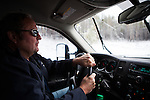 Former Montana Governor Brian Schweitzer drives his truck near his Georgetown Lake home in Anaconda, Montana, May 7, 2014.<br /> CREDIT: Max Whittaker/Prime for The Wall Street Journal<br /> BRIAN