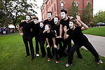 09/25/2011 - Medford/Somerville, MA - Hype! Tufts' mime troupe poses for a photo during Community Day on Sunday, September 25, 2011. (Jodi Hilton for Tufts University)
