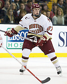 Patch Alber (BC - 27) - The Boston College Eagles defeated the Boston University Terriers 3-2 (OT) in their Beanpot opener on Monday, February 7, 2011, at TD Garden in Boston, Massachusetts.