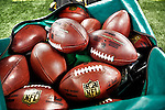 3 December 2009: A bag of NFL footballs lie on the sidelines during a game between the Buffalo Bills and the New York Jets at the Rogers Centre in Toronto, Ontario, Canada. The Jets defeated the Bills 19-13. Mandatory Credit: Ed Wolfstein Photo