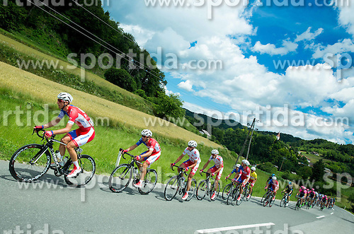 PER David (Slovenia) of Adria Mobil, BOZIC Jon (Slovenia) of Adria Mobil, NOVAK Domen (Slovenia) of Adria Mobil, ROGINA Radoslav (Croatia) of Adria Mobil  during Stage 4 of 22nd Tour of Slovenia 2015 from Rogaska Slatina to Novo mesto (165,5 km) cycling race  on June 21, 2015 in Slovenia. Photo by Vid Ponikvar / Sportida