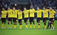 FUSSBALL   1. BUNDESLIGA   SAISON 2011/2012   SUPERCUP FC Schalke 04 - Borussia Dortmund            23.07.2011 Enttaeuschte Dortmunder Ilkay GUENDOGAN, Sven BENDER, Lukasz PISZCZEK, Shinji KAGAWA, Robert LEWANDOWESKI, Felipe SANTANA, Ivan PERISIC, Mats HUMMELS und Kevin GROSSKREUTZ (v.l, alle Dortmund)