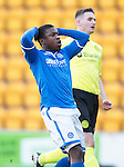 St Johnstone v St Mirren.....11.01.14   SPFL<br /> Nigel Hasselbaink reacts to his effort going wide<br /> Picture by Graeme Hart.<br /> Copyright Perthshire Picture Agency<br /> Tel: 01738 623350  Mobile: 07990 594431