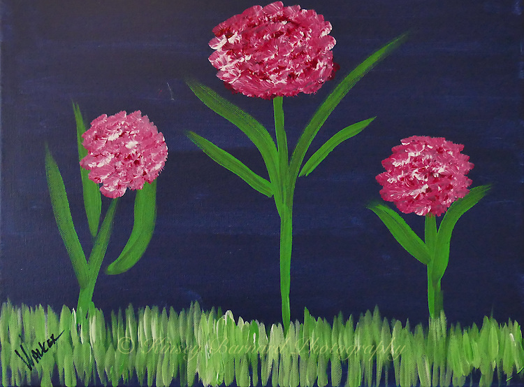 &quot;ROSIES POSIES&quot; Pretty posies. So they might as well be for Rosie.<br /> <br /> Original is 16 x 12 canvas. Contact for availability and pricing.