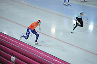 SPEED SKATING: HAMAR: Vikingskipet, 04-03-2017, ISU World Championship Allround, 500m Men, Patrick Roest (NED), Bart Swings (BEL),  ©photo Martin de Jong