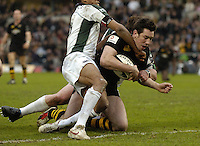 Wycombe, ENGLAND, Tom Voyce is held up from the line,  London Wasps vs London Irish  Guinness Premiership Rugby, at the, Causeway Stadium, © Peter Spurrier/Intersport-images.com,  / Mobile +44 [0] 7973 819 551 / email images@intersport-images.com.