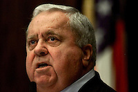TALLAHASSEE, FL. 11/19/02-SESSION 20 8-Senate President Jim King, R-Jacksonville, tells the upper chamber they will not be political lemmings during his speech Tuesday at the Capitol in Tallahassee...COLIN HACKLEY PHOTO FOR METRO SECTION  STORY BY  SALINERO