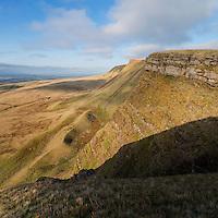 View along Carmarthen Fans - Bannau Sir Gaer towards Picws Du, Black Mountain, Brecon Beacons national park, Wales