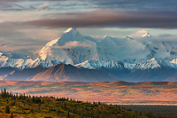 Mt Brooks of the Alaska range, Denali National Park, interior, Alaska.