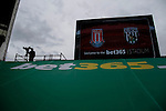 Stoke City 1 West Bromwich Albion 1, 24/09/2016. Bet365 Stadium, Premier League. Video playback screen, TV camera, and Bet365 logo, in the corner of The Bet365 stadium. Photo by Paul Thompson.