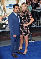 Michael Pena &amp; Brie Shaffer at the premiere for &quot;CHiPS&quot; at the TCL Chinese Theatre, Hollywood. Los Angeles, USA 20 March  2017<br /> Picture: Paul Smith/Featureflash/SilverHub 0208 004 5359 sales@silverhubmedia.com