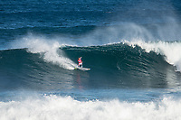 MARGARET RIVER, Western Australia/AUS (Sunday, April 9, 2017) Kolohe Andino (USA) - The final day of competition at the Drug Aware Margaret River Pro, Stop No. 2 of the World Surf League (WSL) Championship Tour (CT), commenced with the men&rsquo;s Quarterfinals, Semifinals and Final called ON for a 7:05 a.m. start. The remaining competitors battled it out in clean six-to-eight foot plus (2 - 2.5 metre) waves at Main Break.<br /> With John John Florence already through to the final a shark scare put the contest on hold during the second semi final between Filipe Toledo (BRA) and Kolohe Andino (USA).<br />  <br /> Photo: joliphotos.com