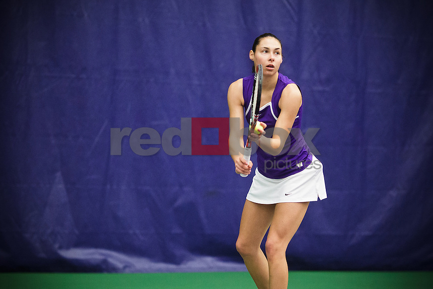 Samantha Smith - University of Washington Huskies women's tennis team defeats Sacramento State University Hornets at Nordstrom Tennis Center in Seattle Friday, Feb. 10, 2012. (Photos by Andy Rogers/Red Box Pictures)