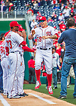 7 April 2016: Washington Nationals catcher Jose Lobaton is introduced on the field prior to the Nationals' Home Opening Game against the Miami Marlins at Nationals Park in Washington, DC. The Marlins defeated the Nationals 6-4 in their first meeting of the 2016 MLB season. Mandatory Credit: Ed Wolfstein Photo *** RAW (NEF) Image File Available ***