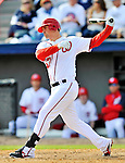 4 March 2012: Washington Nationals first baseman Tyler Moore in action against the Houston Astros at Space Coast Stadium in Viera, Florida. The Astros defeated the Nationals 10-2 in Grapefruit League action. Mandatory Credit: Ed Wolfstein Photo