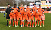 20170314 - UDEN , NETHERLANDS : Dutch team pictured during the UEFA Under 17 Elite round game between The Netherlands U17 and Belgium U17, on the first matchday in group 5 of the Uefa Under 17 elite round in The Netherlands , tuesday 14 th March 2017 . PHOTO SPORTPIX.BE | DIRK VUYLSTEKE