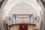 The altar area in 1996 prior to the start of Miloje Milinkovic's icons and frescos within the walls of St. Sava Orthodox Church, Jackson, Calif.