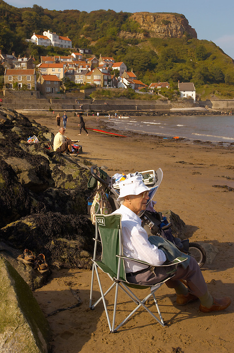 Runswick Bay - North Yorkshire - England - grandad