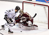 Stefan Demopoulos (PC - 12), Parker Milner (BC - 35) - The Providence College Friars tied the visiting Boston College Eagles 3-3 on Friday, December 7, 2012, at Schneider Arena in Providence, Rhode Island.