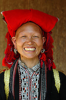Red Zhao tribewoman. North Vietnam, Sapa.