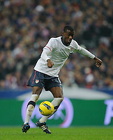 Maurice Edu of team USA chases the ball during the friendly match France against USA at the Stade de France in Paris, France on November 11th, 2011.
